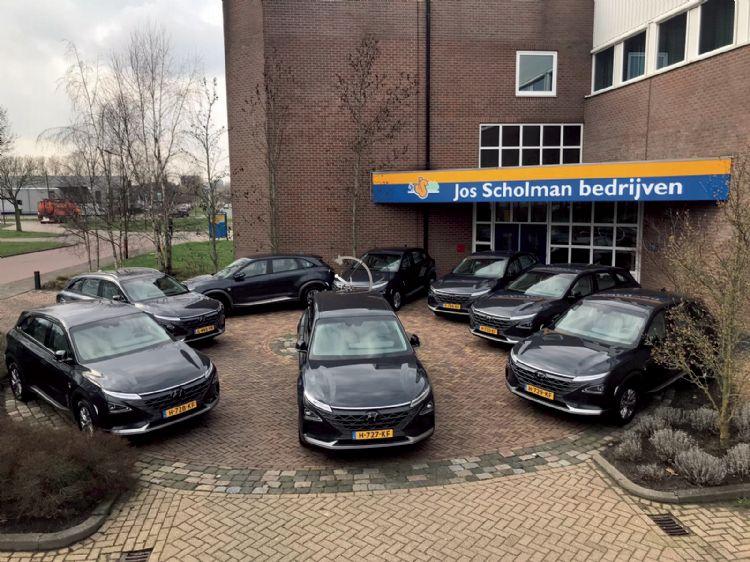 Vloot met Hyundai Nexo auto's op waterstof lopen