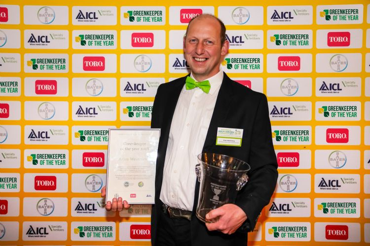 Greenkeeper of the Year 2018, Arjen Westeneng