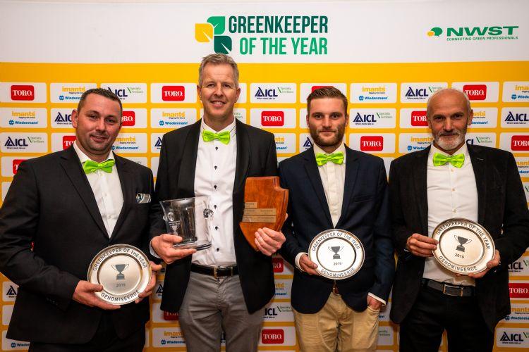De genomineerden, v.l.n.r.: Leon van Dijk, André van der Woude, Silvain Timmerman, Wiljan Verschuijten