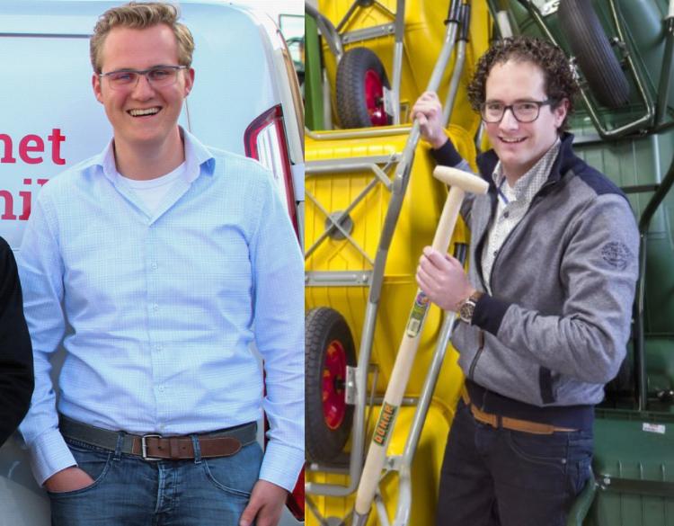 Frans-Jaap Moree van Wim van Breda (links) & Ralph van der Hulst van Donar Groen (rechts)