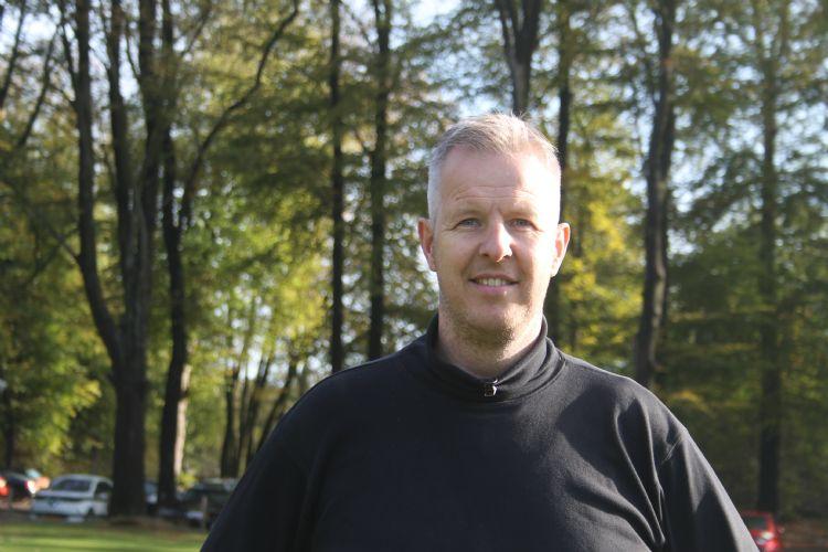 André van der Woude, hoofdgreenkeeper op de Veluwse Golf Club.