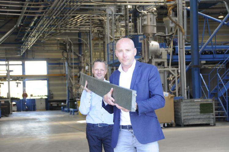 Stefan Hofman (Lankhorst Recycling Products) en William van Diemen (W&H Sports)